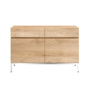 Ethnicraft Oak Ligna sideboard 110 cm 2 opening doors / 2 drawers