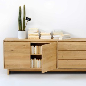 Ethnicraft Oak Wave sideboards