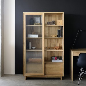 Ethnicraft Oak Wave storage cupboard