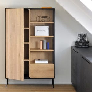 Ethnicraft Oak Whitebird storage cupboard ‐ 1 door / 1 drawer