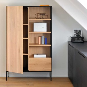 Ethnicraft Oak Blackbird storage cupboard ‐ 1 door / 1 drawer