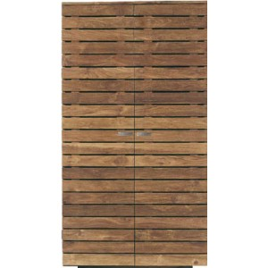 Ethnicraft Teak Horizon wardrobe two shelves in base