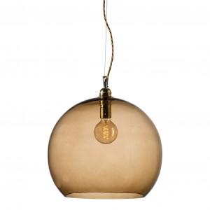 orb-glass-pendant-39-cm-chestnut-brass-wire