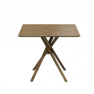 Akira oak square dining table