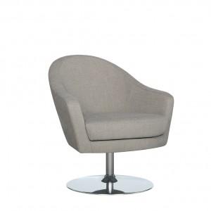 Arc swivel armchair