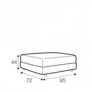 Kenza footstool - small
