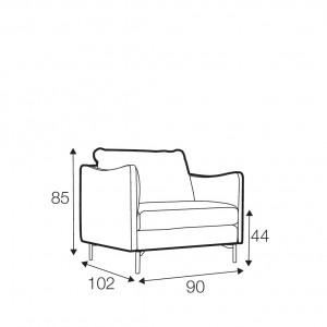 Wave armchair