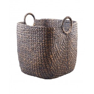 Black wicker basket, large