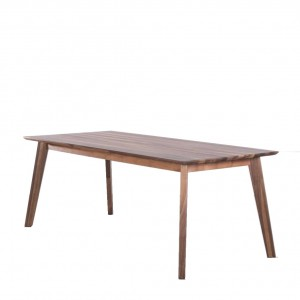 Bianco walnut extendable dining table
