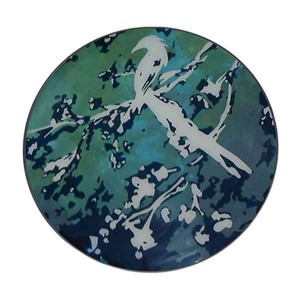 Notre Monde Birds of paradise - Glass tray - Round/Large - 61cm