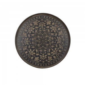 Notre Monde Black Marrakech - Driftwood Round Tray - Medium 61cm