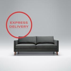 Express - Blade 2.5 seater sofa | Aquaclean Bellis Dark Grey