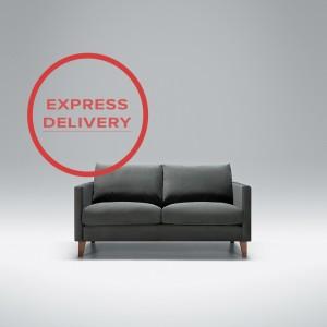 Express - Blade 2 seater sofa | Aquaclean Bellis Dark Grey