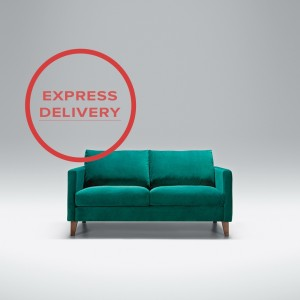 Express - Blade 2 seater sofa | Aquaclean Bellis Turquoise