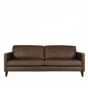 Blade 3 seater leather sofa