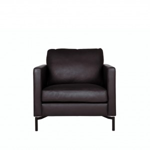 Blade leather armchair