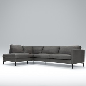 Blade corner leather sofa - set 4