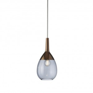 Brinco glass pendant 31cm | Blue and copper