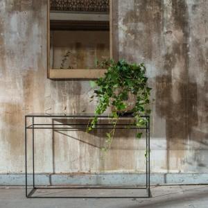Notre Monde Heavy aged mirror console - Bronze