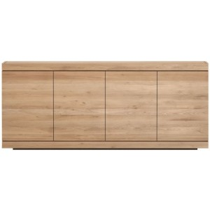 Ethnicraft Oak Burger sideboard - 4 opening doors
