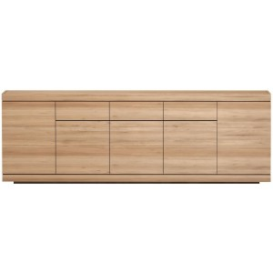 Ethnicraft Oak Burger sideboard - 5 opening doors - 3 drawers
