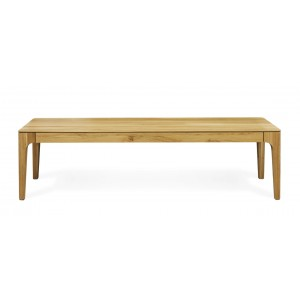 Como solid wood bench