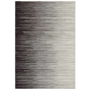 Distress rug - ombre grey