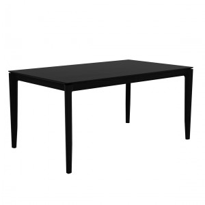 Ethnicraft Bok black oak dining table 140