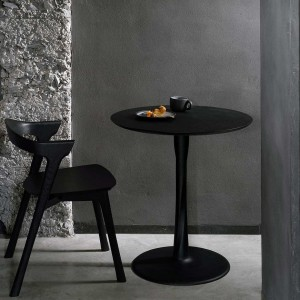 Ethnicraft Torsion black oak round dining table