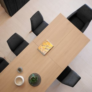 Vibe walnut extending dining table PM1