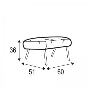 Soho footstool