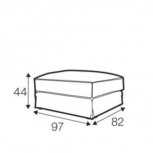 Salci footstool Small