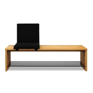 Vestibule shoe bench with Flip seat
