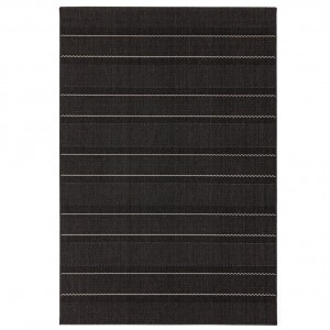 Havana indoor and outdoor charcoal stripe rug