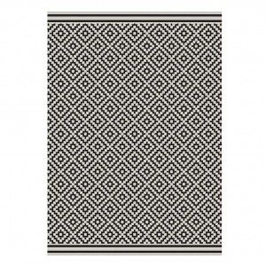 Havana indoor and outdoor black diamond rug