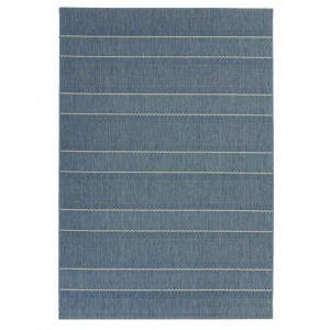 Havana indoor and outdoor blue stripe rug