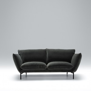 Hug 2 seater leather sofa