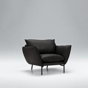 Hug leather armchair