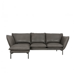 Hug corner leather sofa - set 1