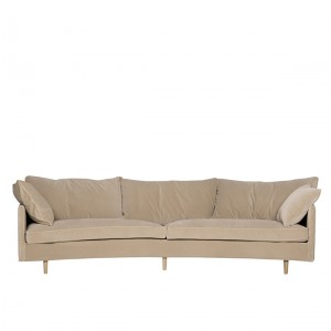 Jules 4 seater rounded back sofa