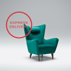 Express - Kush armchair with neckrest pillow | Aquaclean Bellis Turquoise