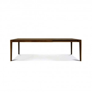 Lugano walnut extending dining table