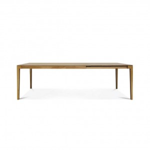 Lugano oak extending dining table