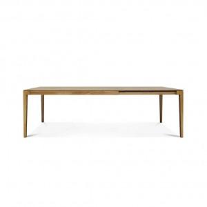 Lugano oak extending dining table