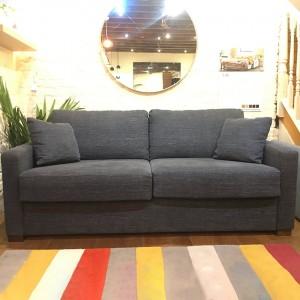 Ex display - Luk 3 seat sofabed | Caleido stampato 9 dark blue | Foot 21b walnut | Armrest 1 (12cm) | Foam mattress