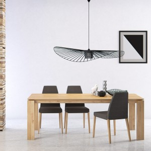 Mason straight leg PB1 oak extending dining table