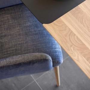 Mason metal leg PB3 Fenix + walnut extending dining table