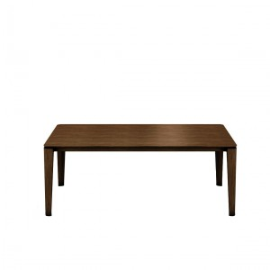 Mason round leg PB2 walnut extending dining table