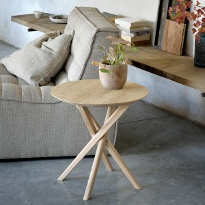Ethnicraft Oak Mikado Side Table