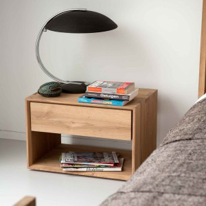 Oak Nordic II bedside table - 1 drawer